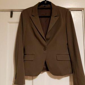 Express EUC Heathered Brown Blazer Size 10